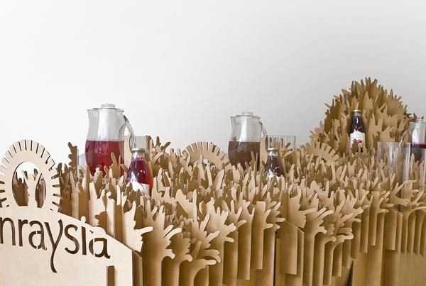 Sunraysia juice tasting stand